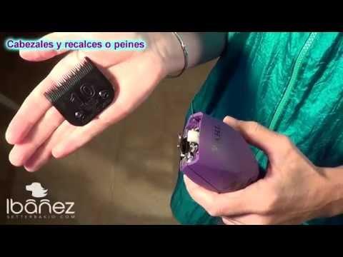 cómo colocar los cabezales y recalces de máquina cortapelos