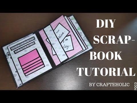 scrapbook for beginners | scrapbook tutorial | how to make a scrapbook | scrabook for birthday