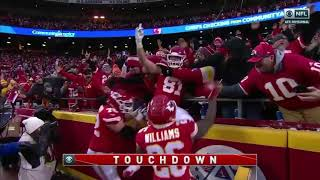 Patrick Mahomes connects with Blake Bell on his 5th touchdown pass Texans Vs Chiefs