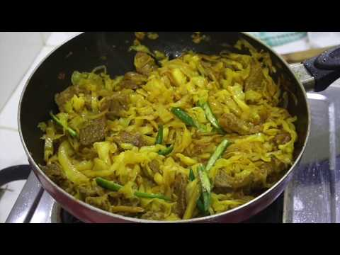⏰ Ethiopian Beef Cabbage - Ethiopian Recipes - Ethiopian Beef - Alicha - How to cook Ethiopian food