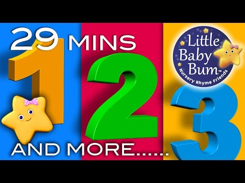Numbers Songs  And More!  29 Minutes Collection of Learning 123s s from LittleBaBum!