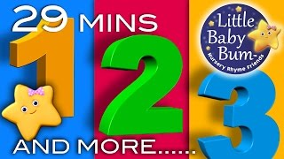 Numbers Song | And More! | 29 Minutes Collection of Learning 123s Videos from LittleBabyBum