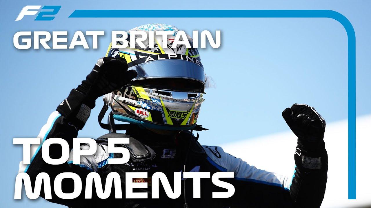 Fans Are Back! Top 5 F2 Moments | 2021 British Grand Prix