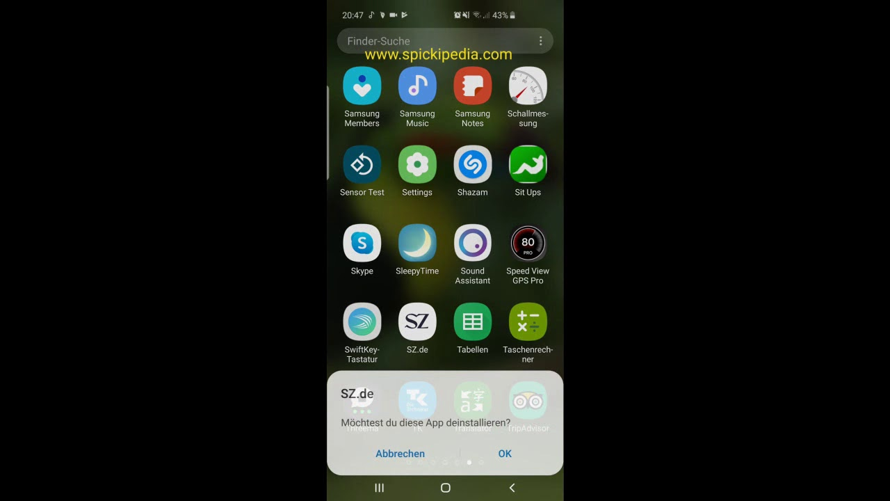 Samsung Galaxy S10 App deinstallieren So geht´s - YouTube