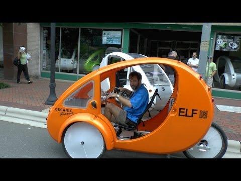 Enclosed Tricycle is Half Bike, Half Car
