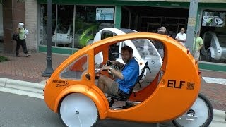 Enclosed Tricycle is Half Bike, Half Car