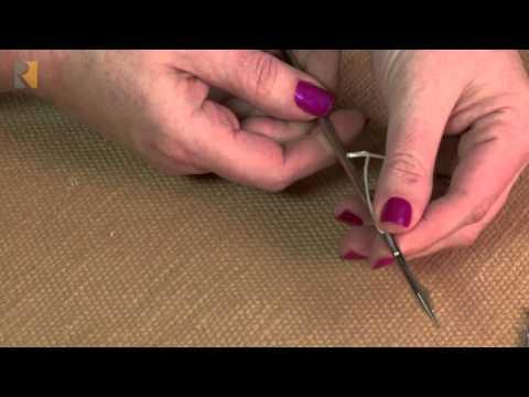 Upholstery Tufting Needle Youtube
