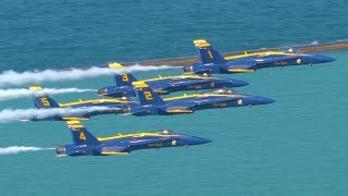blue angels from my rooftop 2017 chicago air and water show