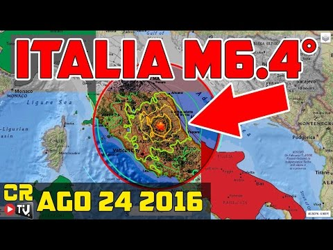 DESTRUCTIVO TERREMOTO  M6.4° DESPIERTA ITALIA