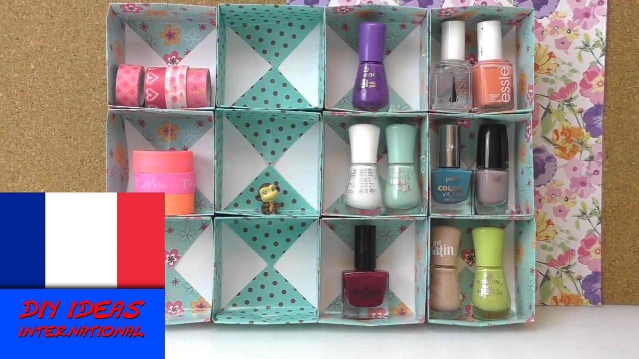 Bo te de rangement pour accessoires diy cubes de papier - Boite de rangement pour bottes ...