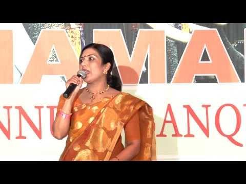 Dr. Nisha Pillai -  Namam Excellence Award 2013 acceptance speech