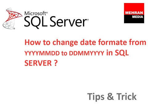 Change date format sql server 2008