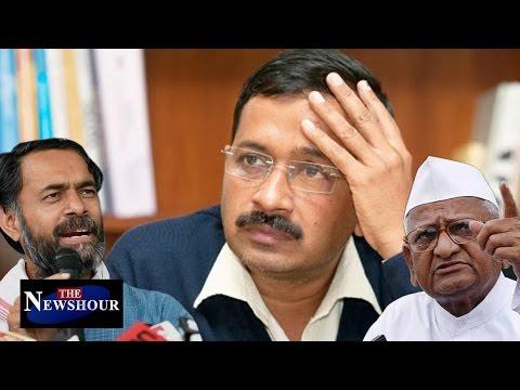 Yogendra Yadav And Anna Hazare Question Kejriwal Over Funding: The Newshour Debate (26th Dec)
