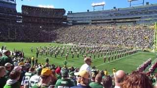 Wisconsin Badger Marching Band at Lambeau Field