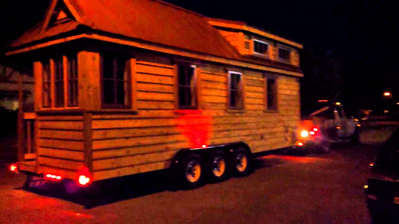 tumbleweed tiny house arriving at night youtube - Tumbleweed Homes