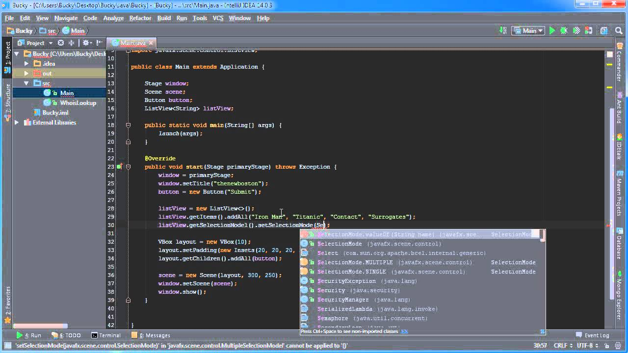 Javafx java gui tutorial 15 listview youtube baditri Gallery