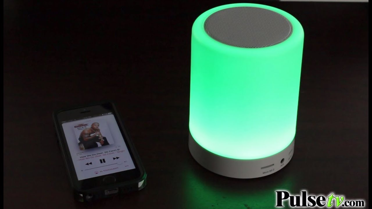 Bluetooth Touchlight Color Changing Led Speaker By Soundlogic Xt