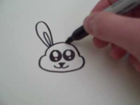 How To Draw A Cartoon Bunny Youtube