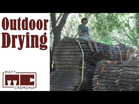 How I Air Dry Lumber Outdoors