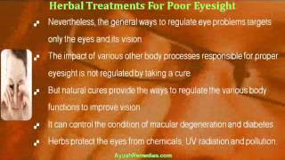 Causes And Herbal Treatments For Poor Eyesight In Natural Manner