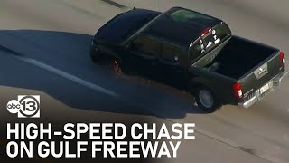 Police surround driver on NASA Bypass after high speed chase