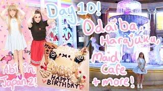BIRTHDAY PARTY AT A MAID CAFE!?♪ | Day 10 - Odaiba | Harajuku | Maid Café | Abipop in Japan 2015 ♡