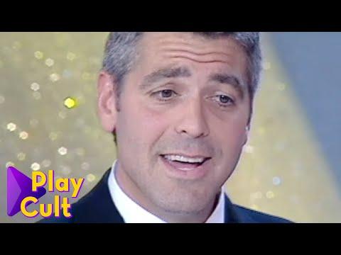 George Clooney ritira il Telegatto nel 2000   Mediaset Play Cult
