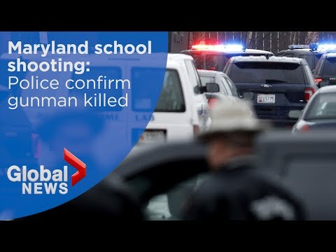 Maryland school shooting: Police confirm gunman killed in incident
