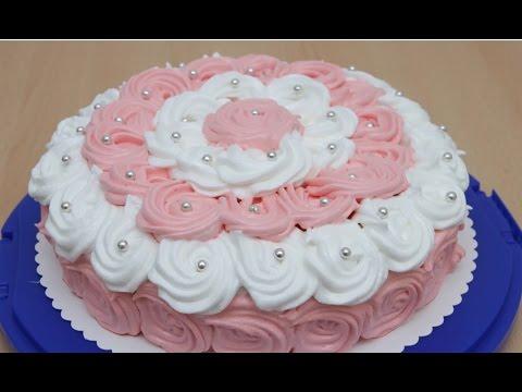 Оформление бисквитного торта дома