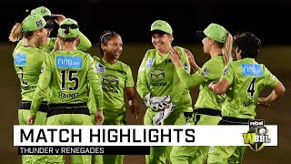 Thunder claim thrilling final-ball win over the Renegades | Rebel WBBL|05