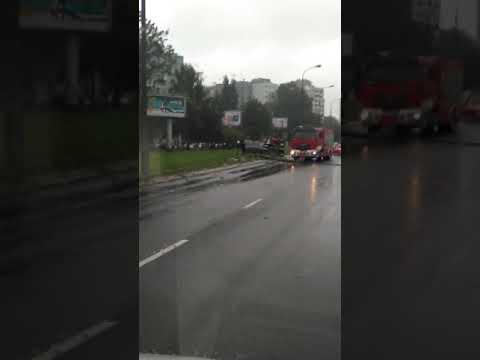 Wypadek ul.Wilanowska 07-09-2017