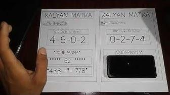 #free_free_kalyan_matka_game!! #date_19_9_2019
