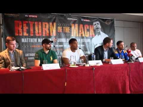 MATTHEW MACKLIN, ANTHONY JOSHUA, O'SULLIVAN v FITZGERALD - RETURN OF THE MACK PRESS CONFERENCE