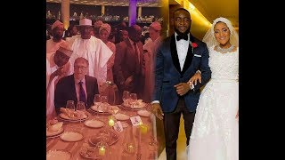Davido and Wizkid performs as Bill Gate enjoys Dangote's Daughter's wedding.
