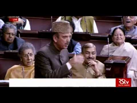 Ghulam Nabi Azad speech in Rajya Sabha, 25 feb 2016