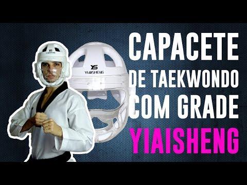 Protegido! Capacete De Taekwondo Com Grade Yiaisheng - Unboxing E Review #055