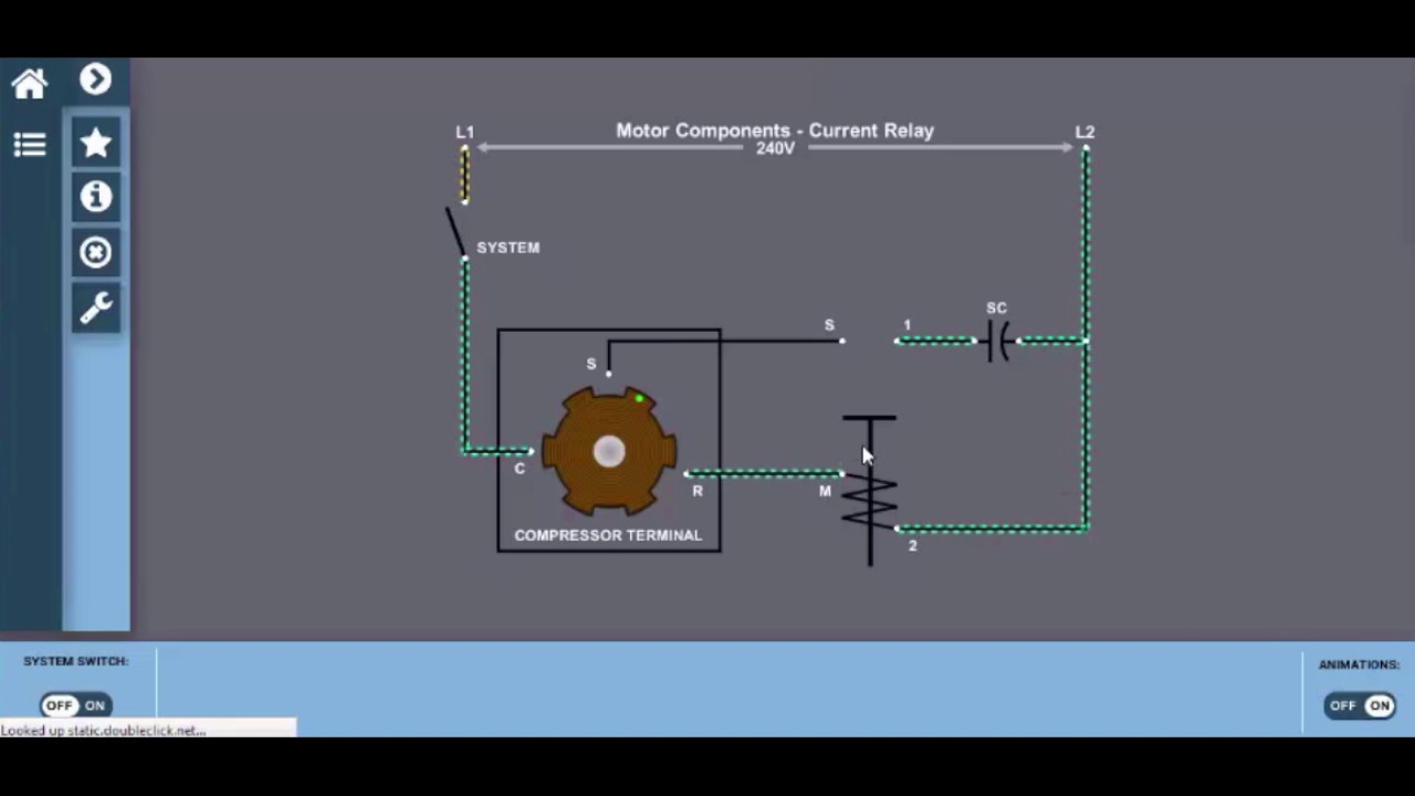 current relay interactive wiring diagram hvac electricity [ 1280 x 720 Pixel ]