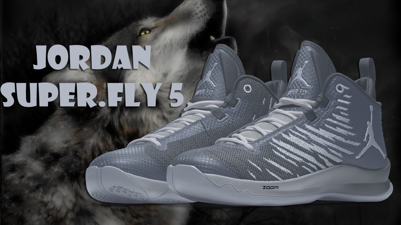 ba8ae51ca71e3 GREY WOLF COLORWAYS JORDAN SUPER.FLY 5 CUSTOM NIKE ID - YouTube