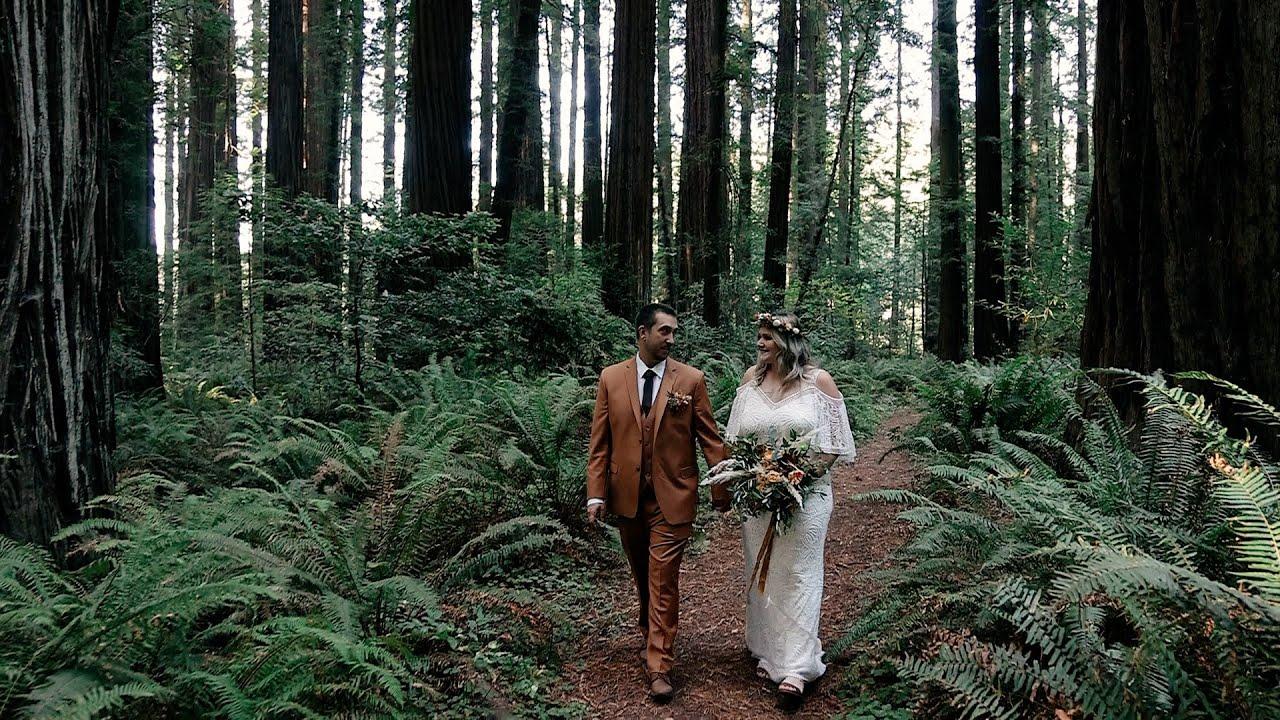 Malinda and Mako's Dreamy Redwoods Elopement