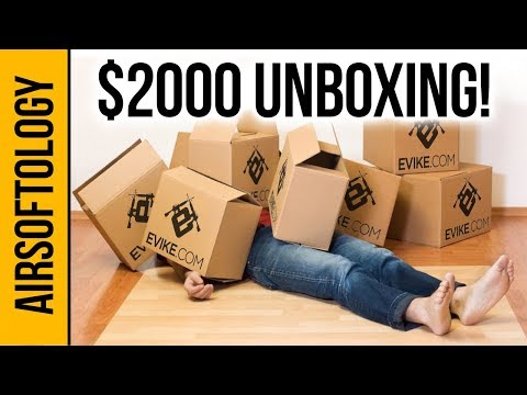 $2000 MEGA Evike Unboxing with 7 Guns! | Airsoftology