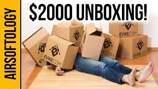 $2000 MEGA Evike Unboxing with 7 Guns! | Airsoftology