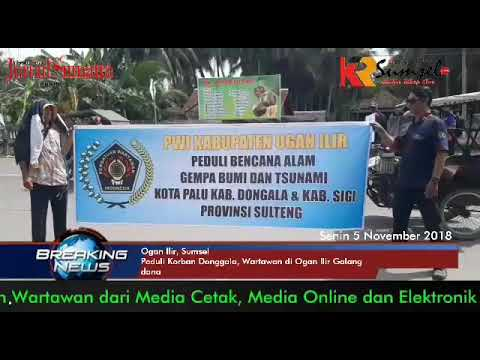 Puluhan Wartawan di Ogan Ilir Galang Dana Peduli Donggala