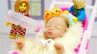 【LEGO遊び】リアル赤ちゃんとベビーシッターごっこ【アナケナ&カルちゃんのキッズアニメ】real baby