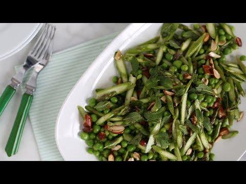 asparagus  shrimp and spring pea salad