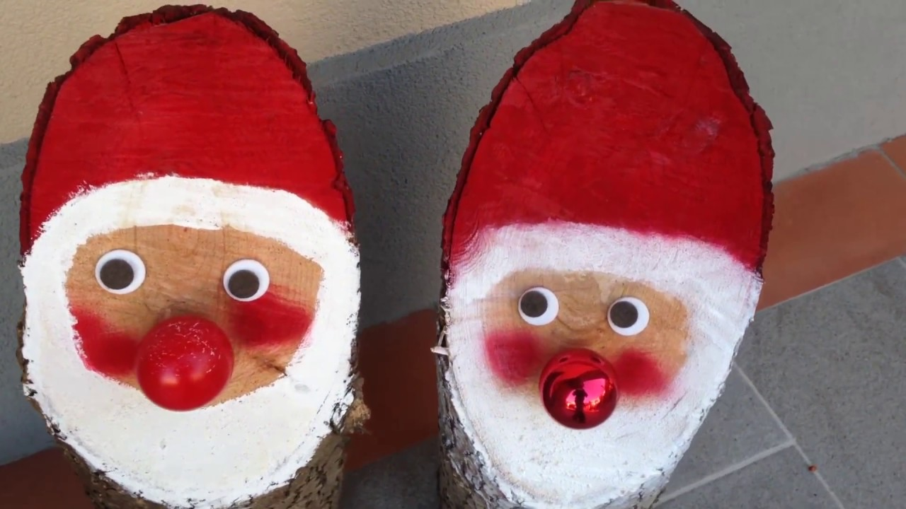 Santa claus diy wood babbo natale fai da te in legno for Youtube fai da te legno