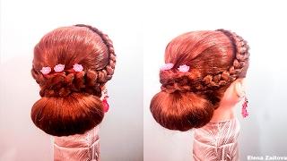 Прически вечерние быстрые простые плетения кос
