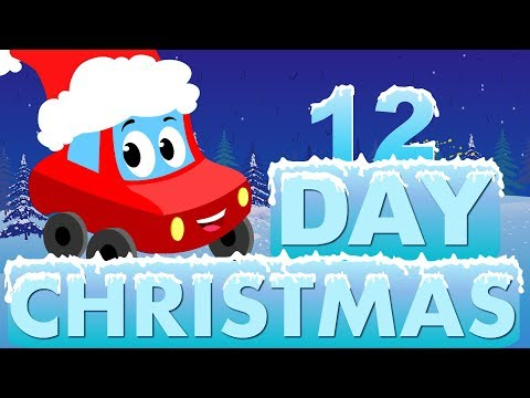 Little  Red Car  Twelve Days Of Christmas  Christmas Songs For Toddlers   Kids Channel