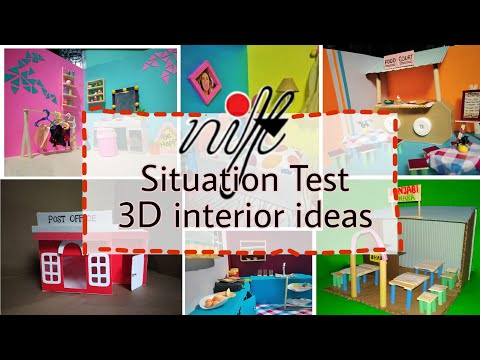 My situation test models | Nift Situation Test | 3D model | Interior ideas | Nift2020
