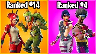 RANKING COUPLE SETS IN FORTNITE FROM WORST TO BEST