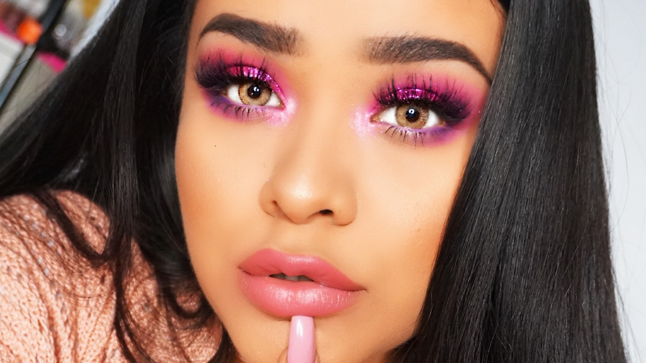 Image result for bright pink eyeshadow